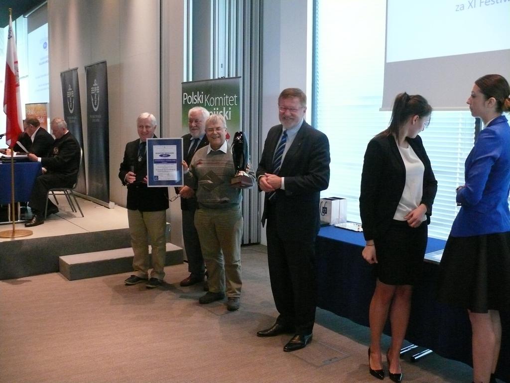 Przeglądasz zdjęcia w artykule: Mazurska Szkoła Żeglarstwa laureatem nagrody Błękitny Spinaker PZŻ za 2015 rok