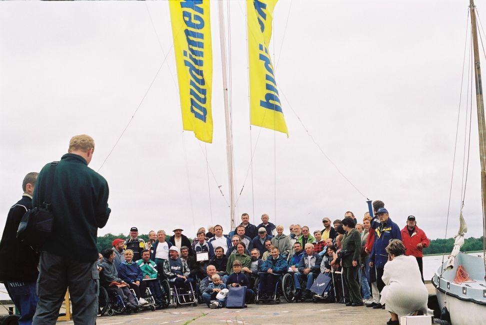 Przeglądasz zdjęcia w artykule: VII Mistrzostwa Polski Żeglarzy Niepełnosprawnych  18 - 24 czerwca 2001