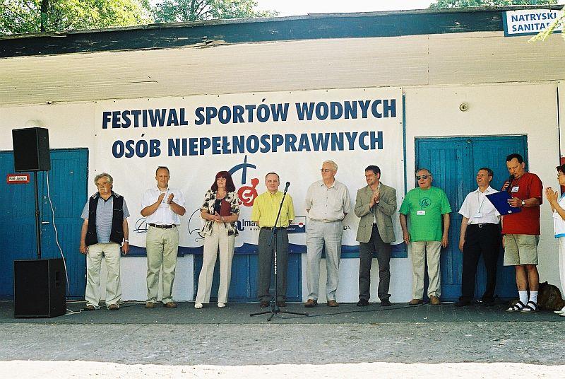 Przeglądasz zdjęcia w artykule: Festiwal Sportów Wodnych Osób Niepełnosprawnych 24 – 26 czerwca 2005