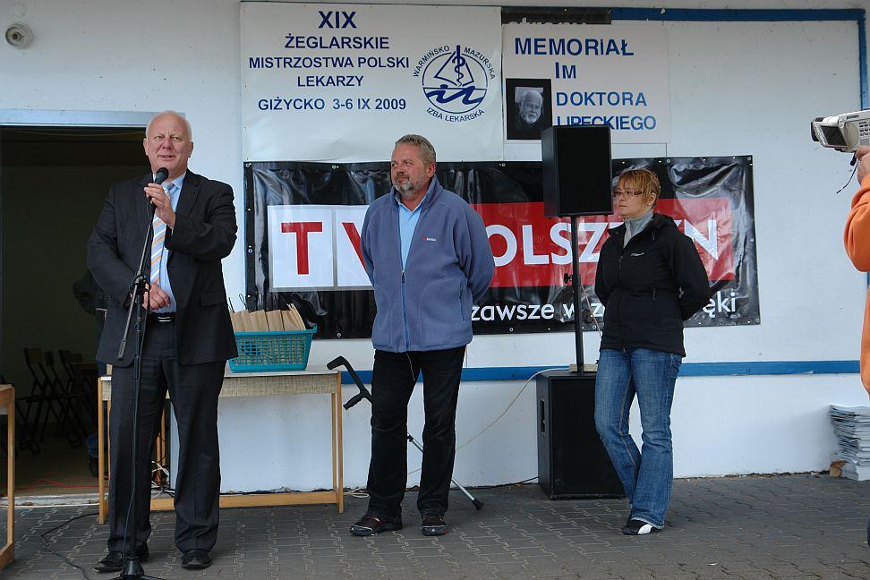 Przeglądasz zdjęcia w artykule: XIX Żeglarskie Mistrzostwa Polski Lekarzy 03 - 06 września 2009