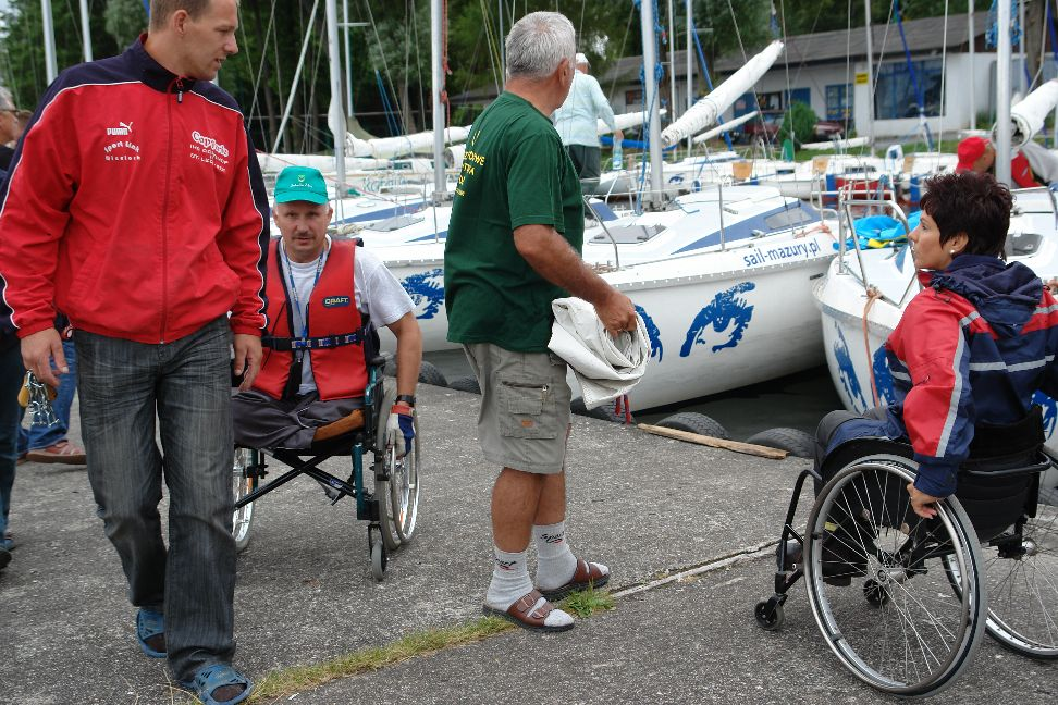 Przeglądasz zdjęcia w artykule: VII Puchar Polski Żeglarzy Niepełnosprawnych – I Edycja 23 - 25 lipca 2010