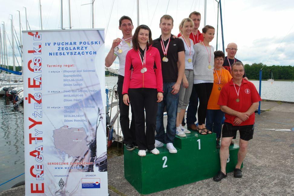 Przeglądasz zdjęcia w artykule: IV Puchar Polski Żeglarzy Niesłyszących III Edycja 16 – 17 czerwca 2012