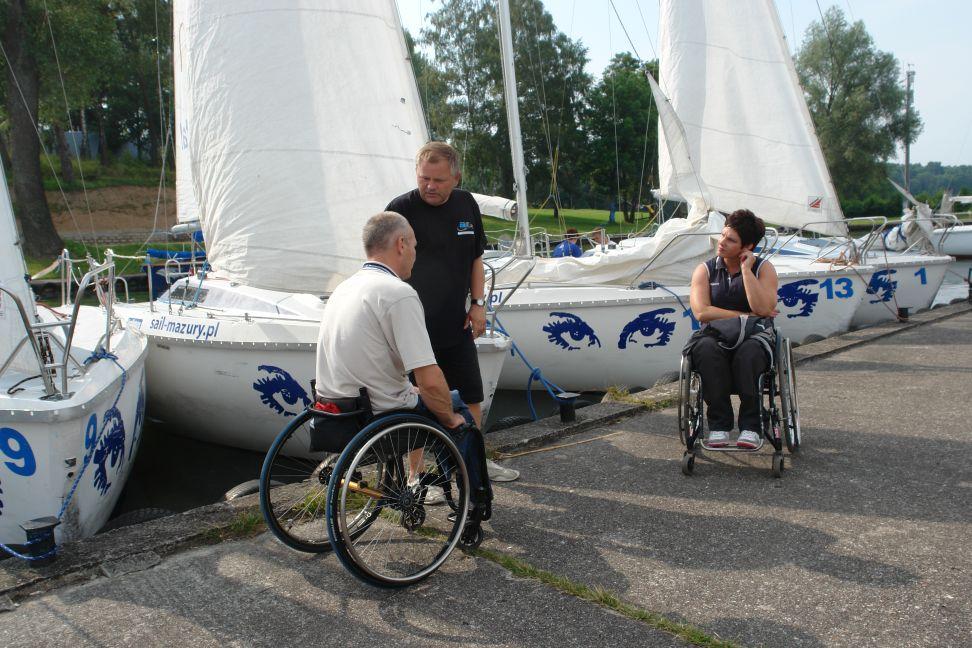 Przeglądasz zdjęcia w artykule: IX Puchar Polski Żeglarzy Niepełnosprawnych II Edycja 9 – 11 lipca 2012